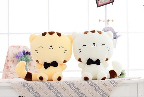 Chubby Face Smiley Cat Plush Toy