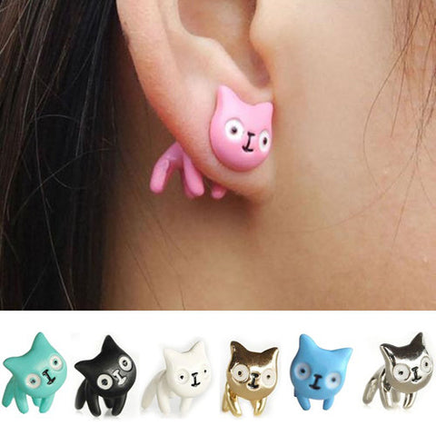 Curious Cat Earrings
