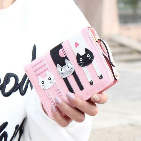 Cute 3 Cats Short Wallet