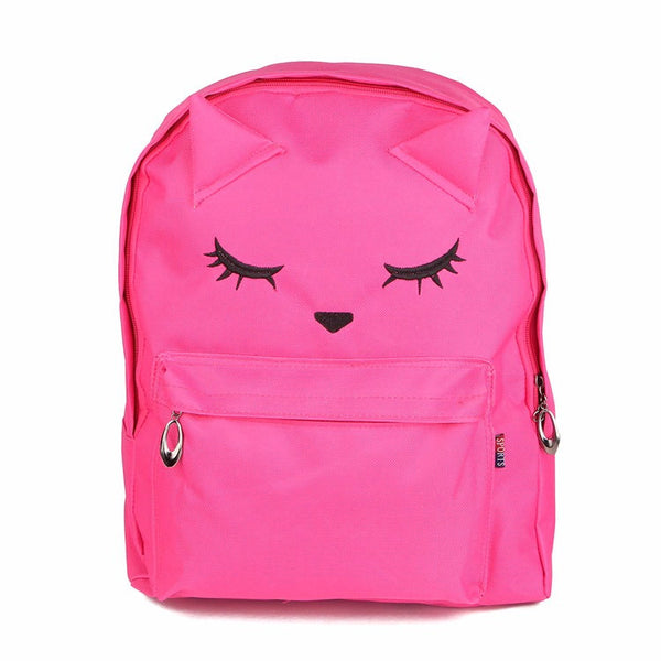 Cute Cartoon Cat Print Schoolbag