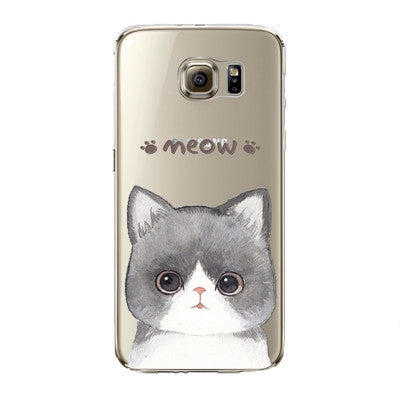 Cute Grey Cat Phone Case for Samsung