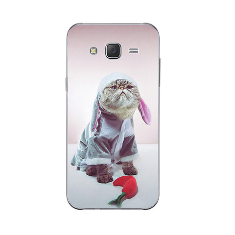 2 Cute Lazy Cat Design Phone Cases for Samsung