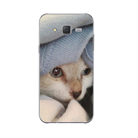 3 Cute Lazy Cat Design Phone Cases for Samsung
