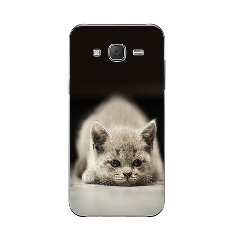 Cute Lazy Cat Design Phone Cases for Samsung
