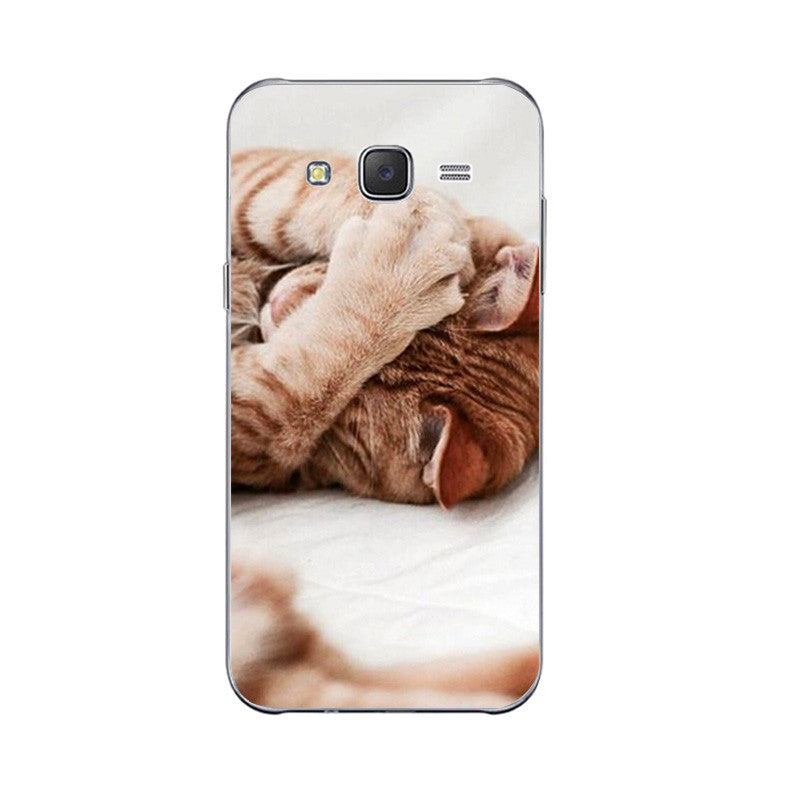 8 Cute Lazy Cat Design Phone Cases for Samsung