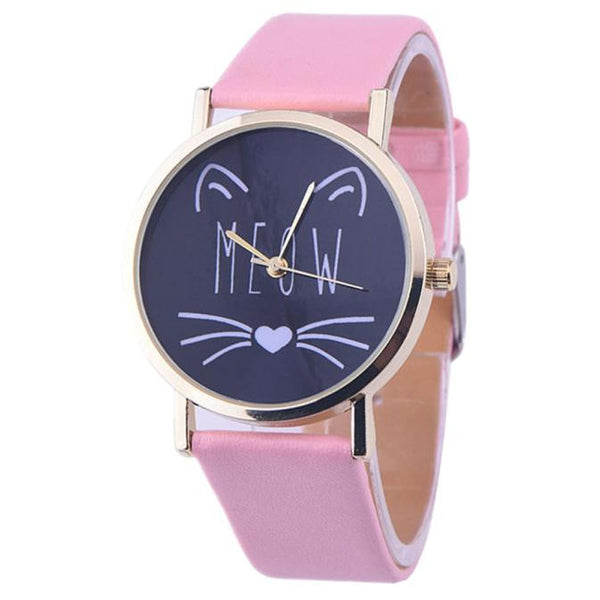 Cute Meow Cat Face Watch