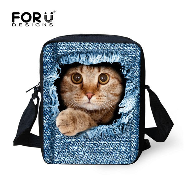 Designer Cat Shoulder Bag
