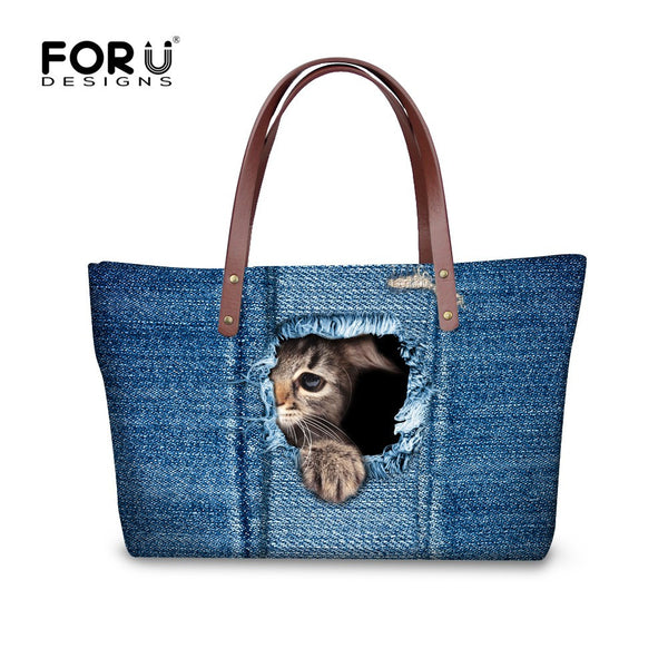 Designer Lovely Cat Women Tote Bag