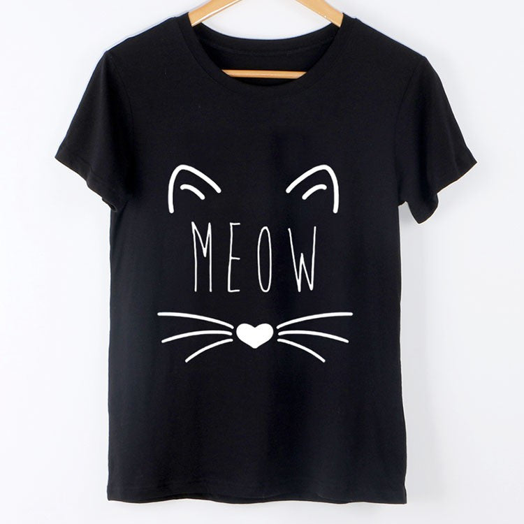 Fashion Meow Cat T-Shirt