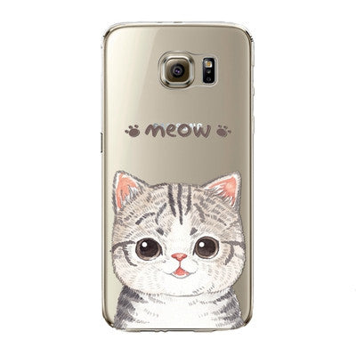 Puffy Cat Phone Case for Samsung