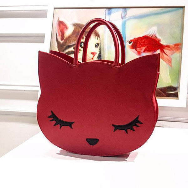 Stylish Cat Cartoon Purse & Handbag