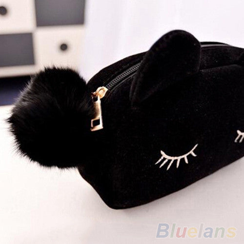 Trendy Cat Pouch with Pompom