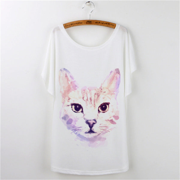 Cute Cat Summer T-Shirts