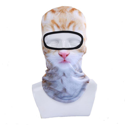 3D Animal Cat Sports Ski Hats