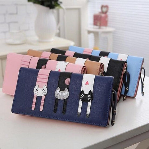 Cute 3 Cats Long Wallet