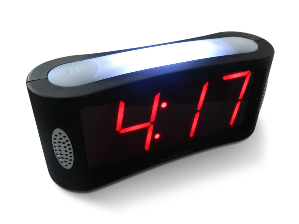 Led Digital Alarm Clock Travelwey Night Lamp With Home Outlet Powered No Frills Simple Operation Large