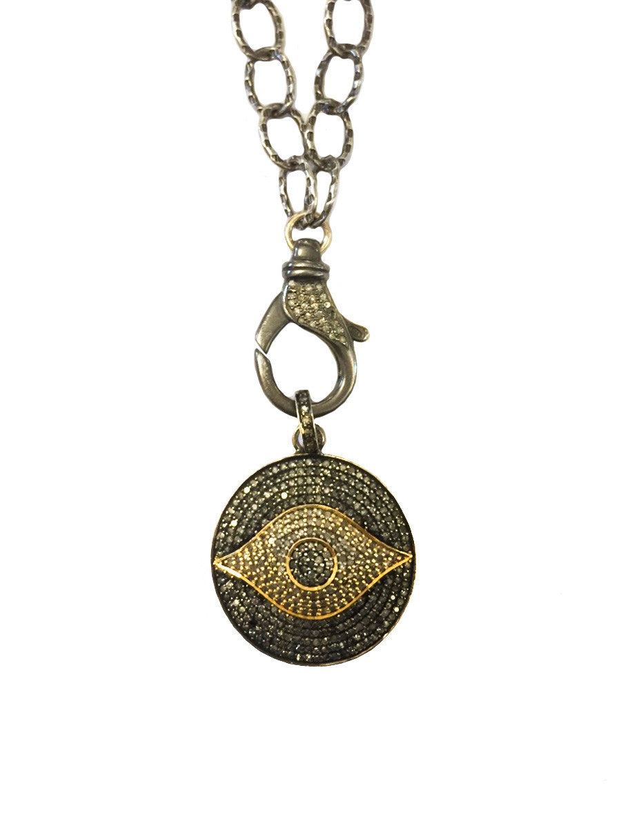 Pave Diamond Evil Eye Necklace