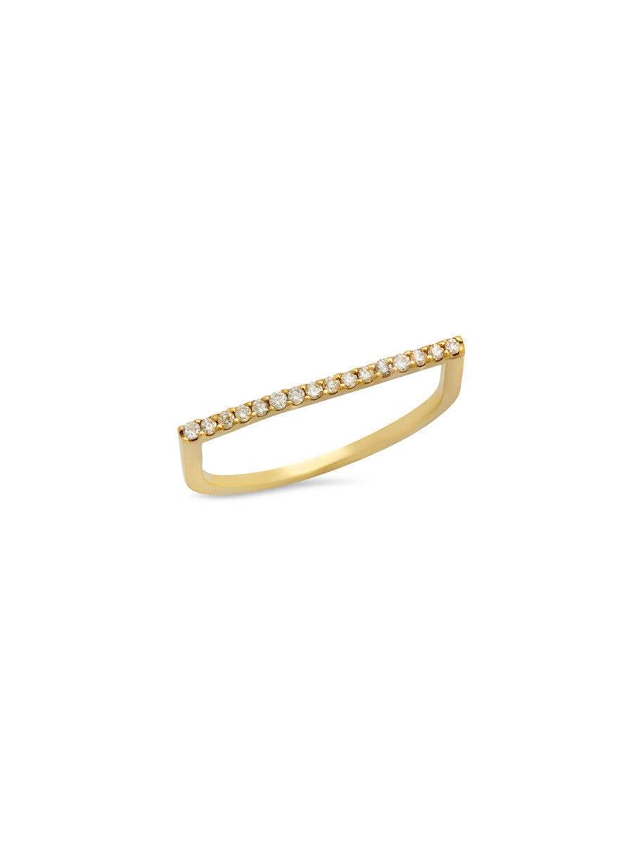 White Diamond Staple Ring