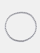 Small 3mm Sterling Silver Bead Bracelet