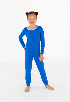 Girls Royal Blue Full Length Set
