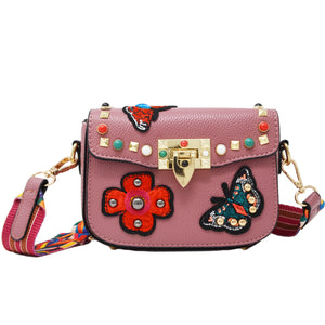 Mauve Pink Butterfly Bag