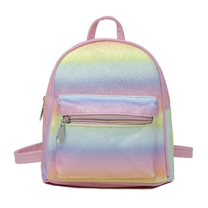 Mini Glitter Rainbow Backpack