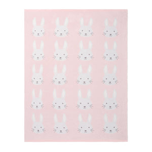 Pink Bunny Knit Blanket