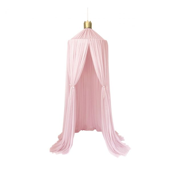 Light Pink Canopy with Gold Crown & Poms