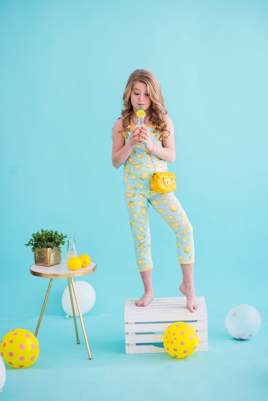 Lemon Camisole & Cropped Legging Set