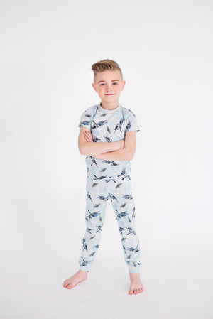 Jets Short Sleeve Top & Pant Set