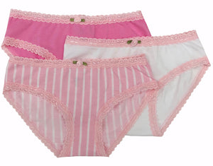 Blush Stripes 3-Pack Panty