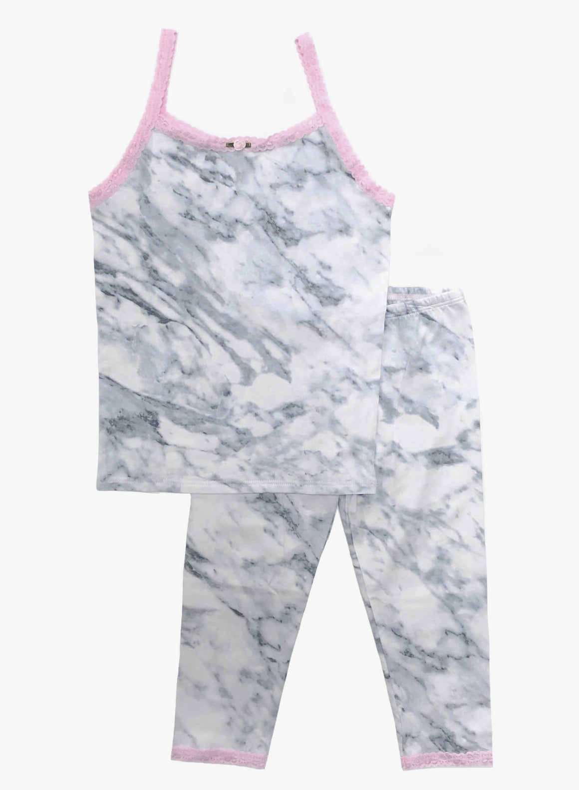 [Mommy & Me] Grey Marble Cami & Cropped Legging Set