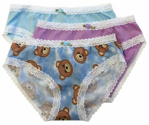 Teddy Bear 3-pack Panty