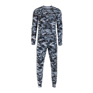 GREY CAMO LONG SLEEVE SET - BOYS + MENS