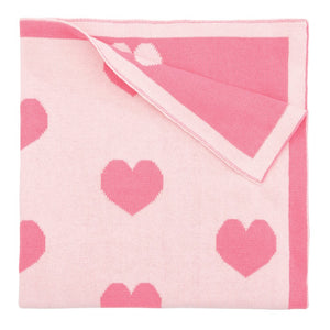 Reversible Pink Heart Blanket
