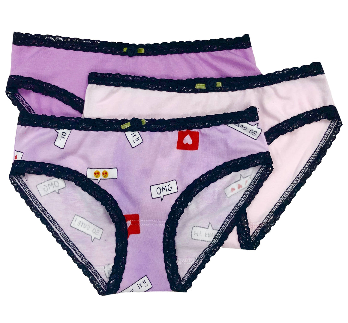 Like & Comment 3-Pk Panty