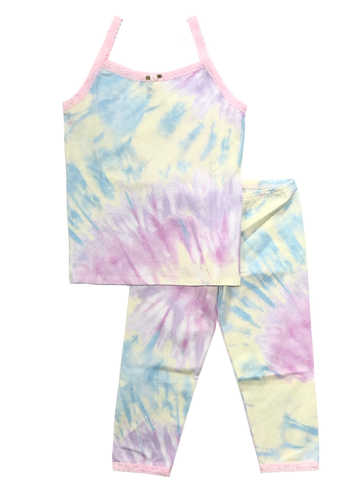 [Mommy & Me] Shimmer Tie Dye Camisole & Cropped Legging Set