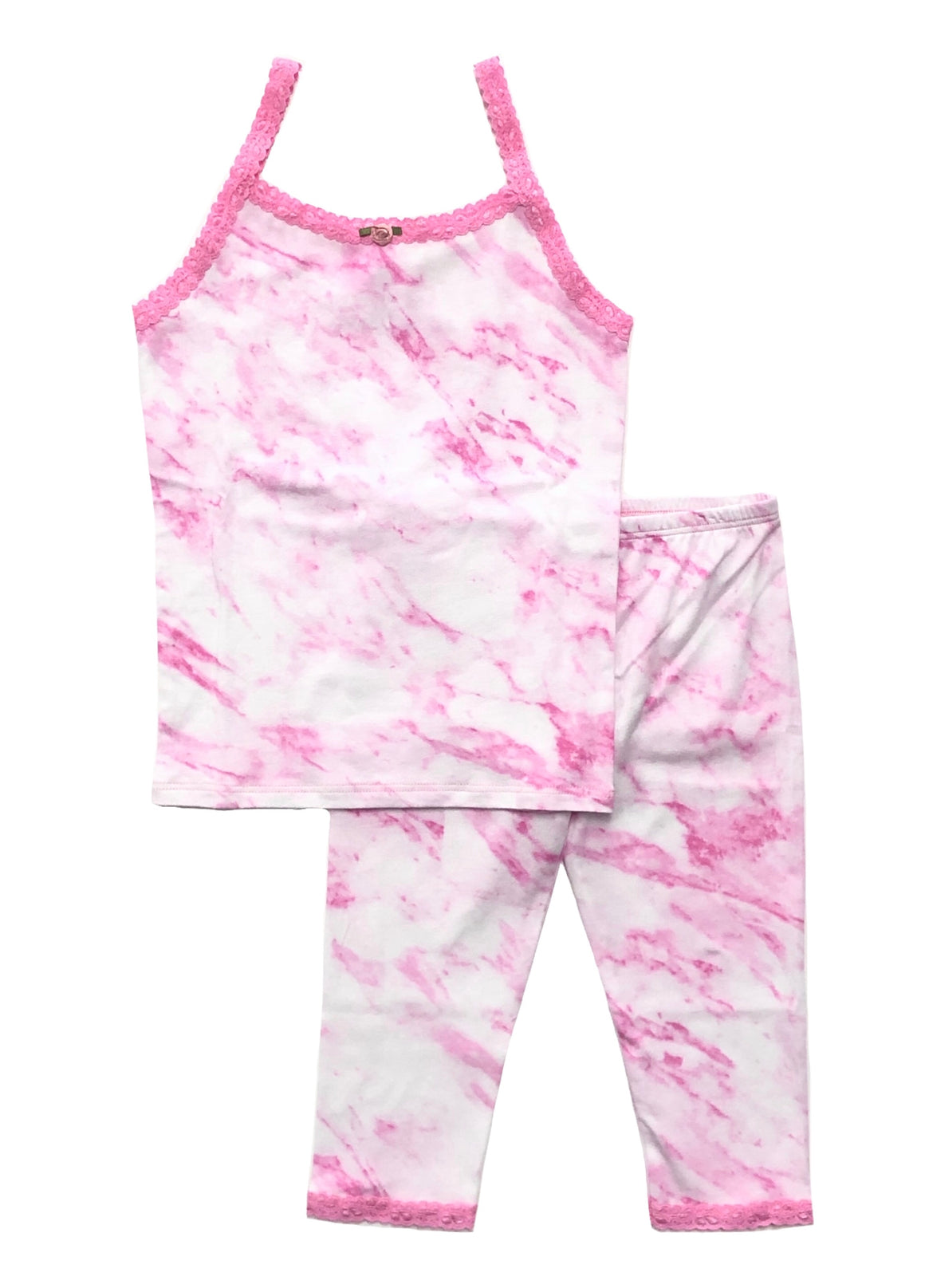 [Mommy & Me] Pink Marble Cami & Cropped Legging Set