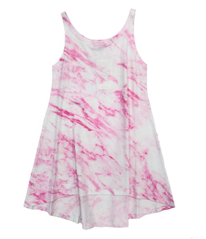 Pink Marble High-Low Cami Dress
