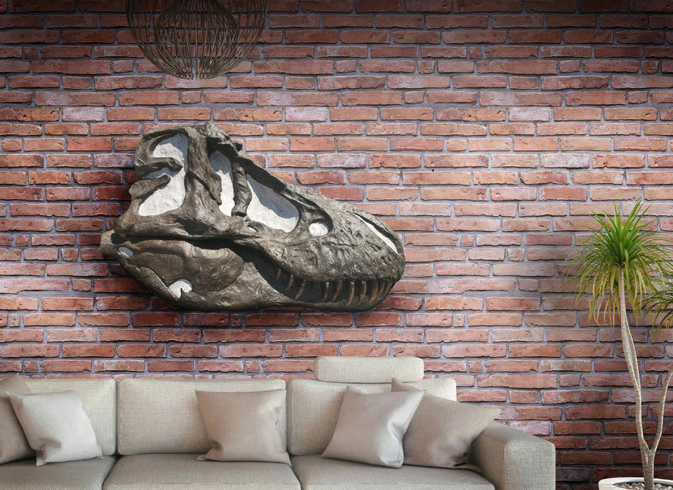 Tyrannosaurus rex Life Sized Half Skull Wall Mount Replica NEW PRICE