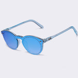 Retro Reflective Mirror Sunglasses Clear Candy Color