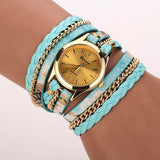 Leather Braided Wrap Bracelet Watches
