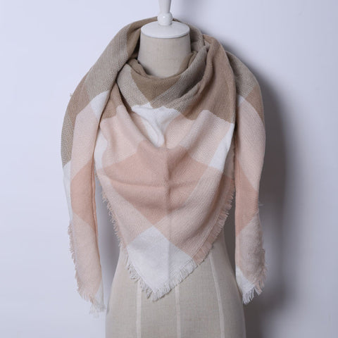 Cashmere Triangle Pink Scarf
