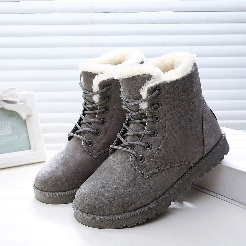 Women Boots  Fur Ankle