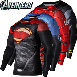 Super Hero's Themed Men's Fitness  Shirt's