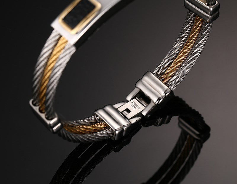 Stainless Steel Jesus Cross Mens Bracelet Men