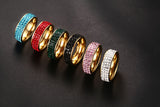 Meaeguet Fashion Women Crystal Rings