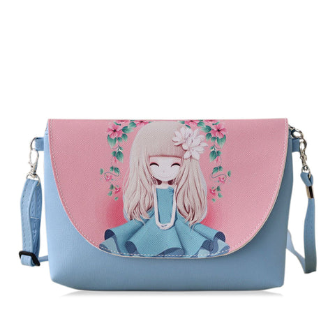 Cartoon printing Women bag