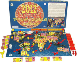 2012 The Mayan Calendar Game Board, Box and Pieces Displayed as in Play