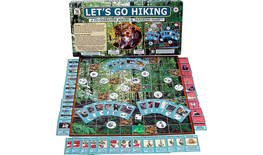 Let's Go Hiking, A Family Pastimes Cooperative Game with Box & Board displayed